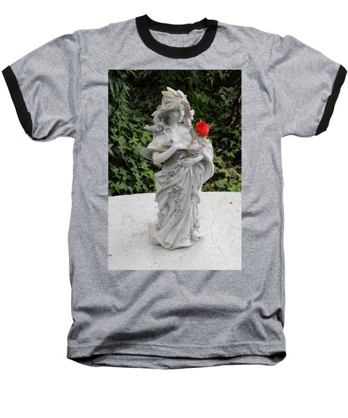 Baseball T-Shirt featuring the photograph She Includes The Rose by Marie Neder