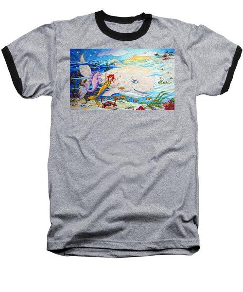 She Joyfully Swims  Baseball T-Shirt by Matt Konar