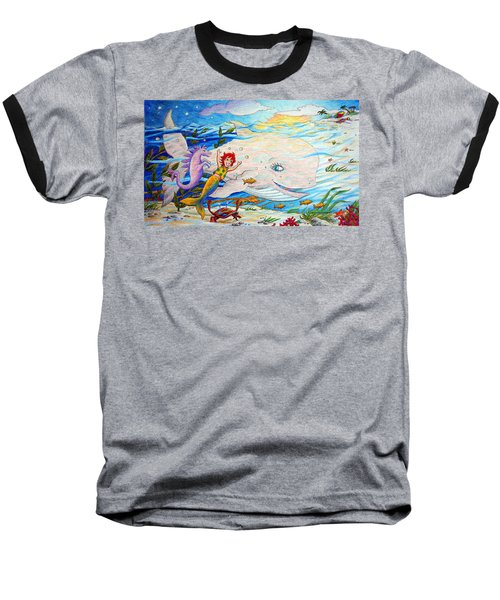She Joyfully Swims  Baseball T-Shirt