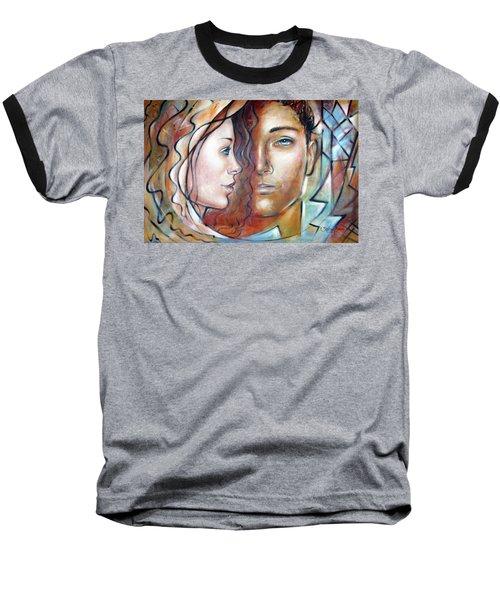 She Loves Me 140709 Baseball T-Shirt by Selena Boron