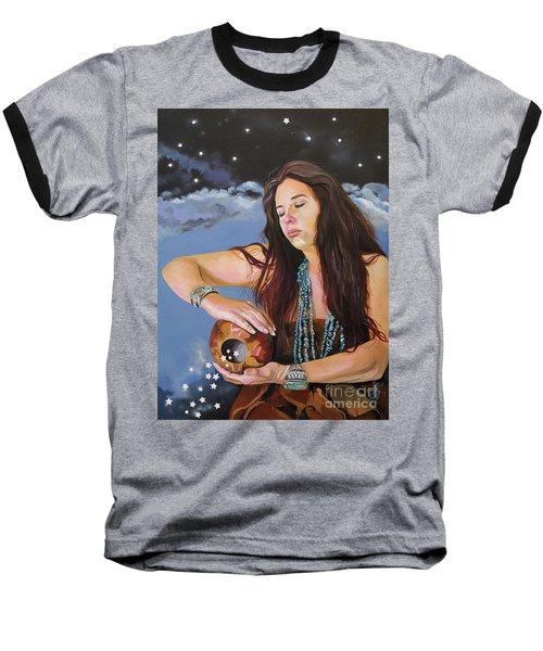 She Paints With Stars Baseball T-Shirt