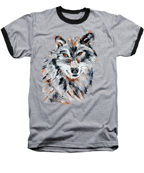 She Wolf - Animal Art By Valentina Miletic Baseball T-Shirt by Valentina Miletic