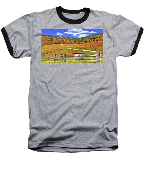Sheep And Road Ver 1 Baseball T-Shirt