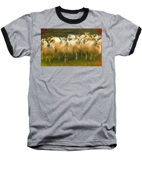 Sheep At Hadrian's Wall Baseball T-Shirt