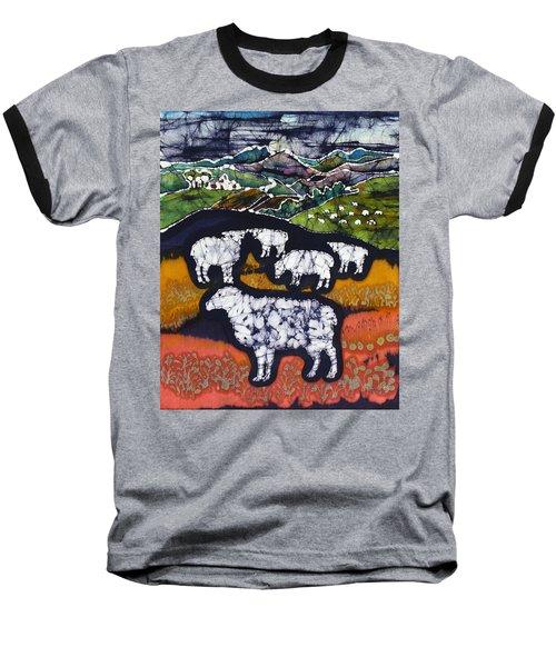 Sheep At Midnight Baseball T-Shirt