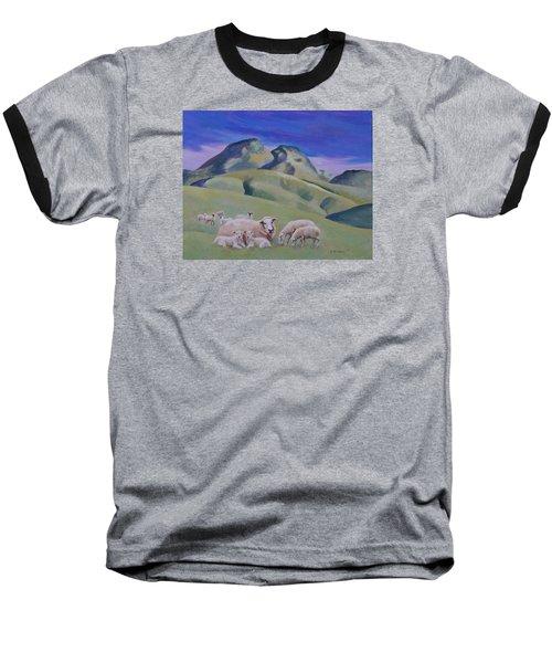 Sheep At Sutter Buttes Baseball T-Shirt