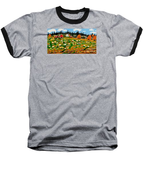 Sheep Farm Baseball T-Shirt by Jeffrey Koss
