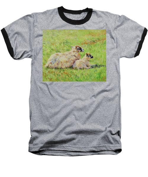Sheep In The Spring Time,la Vie Est Belle Baseball T-Shirt