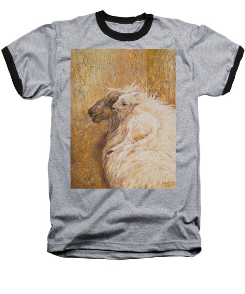 Sheep With A New Born Lamb Baseball T-Shirt
