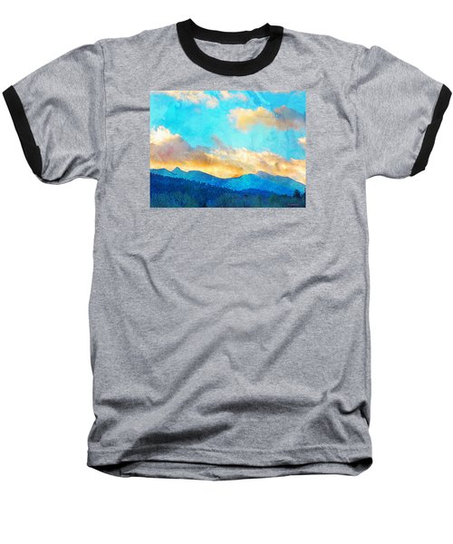 Sheeps Head And Truchas Peaks-predawn December Baseball T-Shirt by Anastasia Savage Ealy