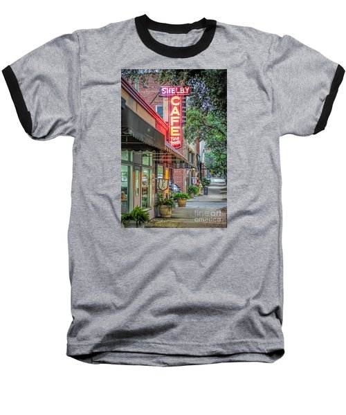 Baseball T-Shirt featuring the photograph Shelby Cafe by Marion Johnson