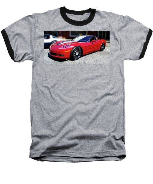 Shelby Corvette Baseball T-Shirt