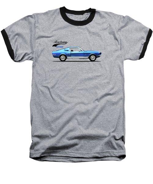 Shelby Mustang Gt500 1968 Baseball T-Shirt by Mark Rogan