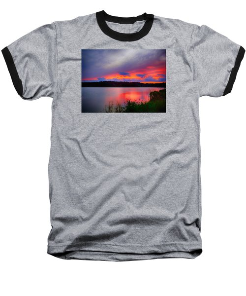 Shelf Cloud At Sunset Baseball T-Shirt