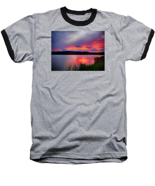 Baseball T-Shirt featuring the photograph Shelf Cloud At Sunset by Bill Barber
