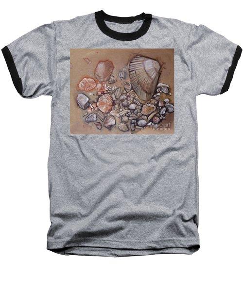 Shell Collection Beach Seashell Tan Clam Sand Baseball T-Shirt