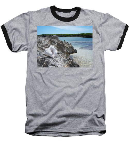 Shell On Dominican Shore Baseball T-Shirt