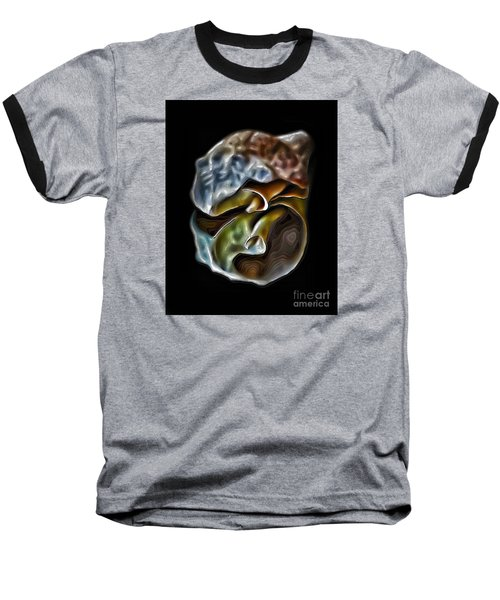 Shell On Mirror Baseball T-Shirt by Walt Foegelle