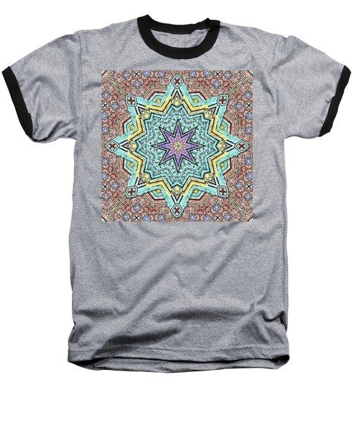 Shell Star Mandala Baseball T-Shirt