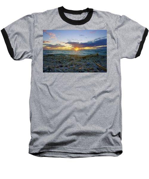 Shells On The Beach At Sunset Baseball T-Shirt