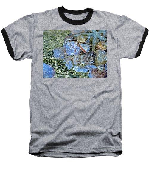 Shells Underwater 20 Baseball T-Shirt by Lynda Lehmann