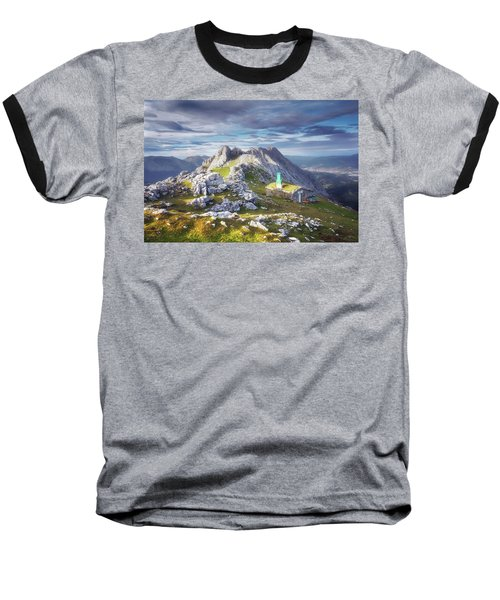 Shelter In The Top Of Urkiola Mountains Baseball T-Shirt