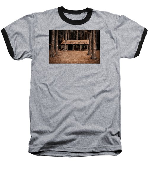 Shelter In The Woods Baseball T-Shirt