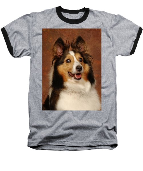 Baseball T-Shirt featuring the photograph Sheltie by Greg Mimbs