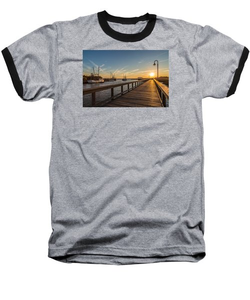 Shem Creek Pier Sunset - Mt. Pleasant Sc Baseball T-Shirt