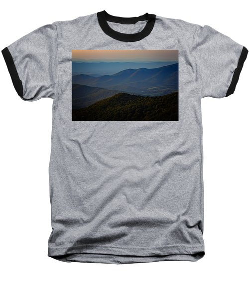 Shenandoah Valley At Sunset Baseball T-Shirt
