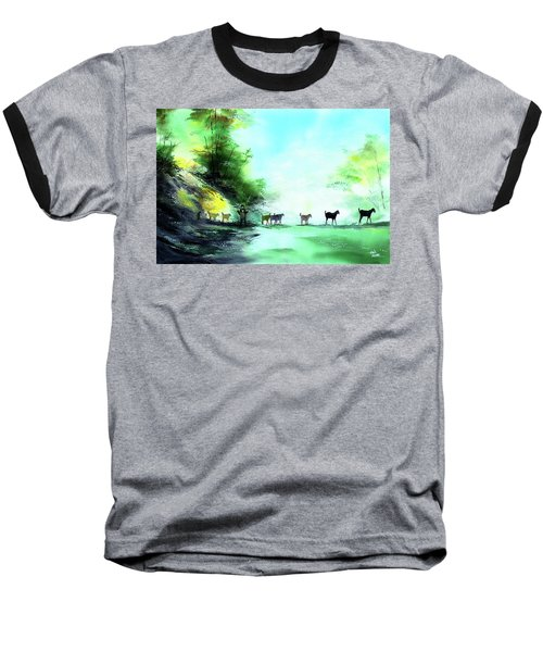 Baseball T-Shirt featuring the painting Shepherd by Anil Nene