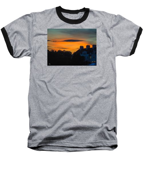 Sherbet Sky Sunset Baseball T-Shirt by Glenn Feron