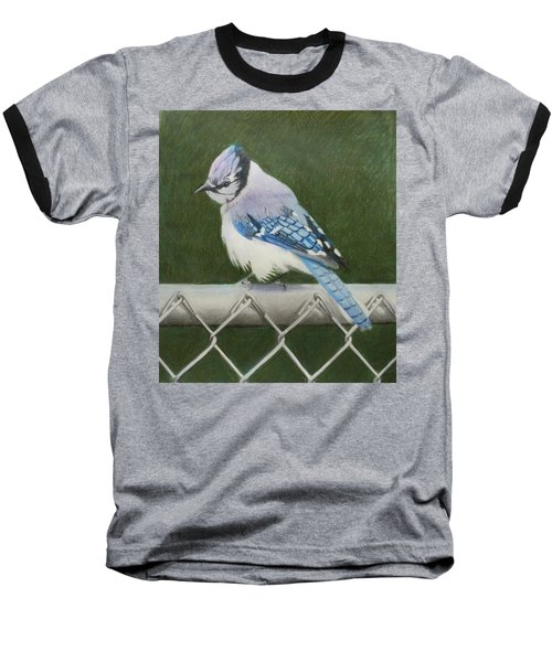 Baseball T-Shirt featuring the painting Sherrie's Bluejay by Constance DRESCHER