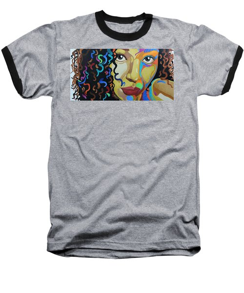 She's Complicated Baseball T-Shirt by William Roby