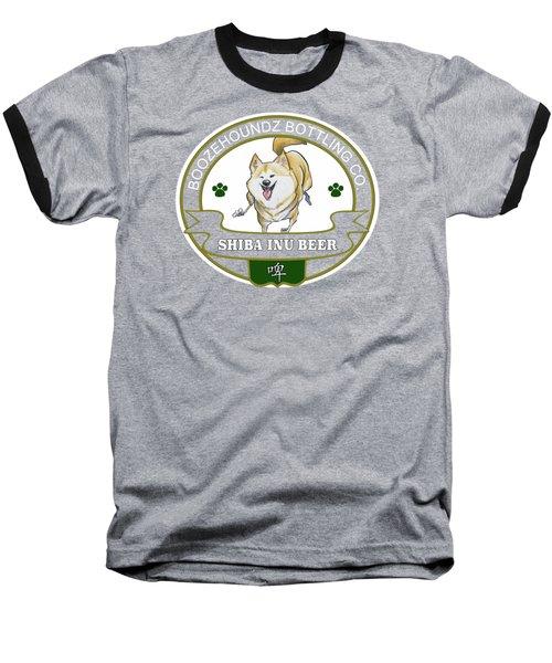 Shiba Inu Beer Baseball T-Shirt