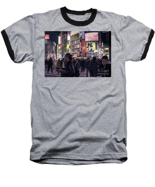 Shibuya Crossing, Tokyo Japan 3 Baseball T-Shirt
