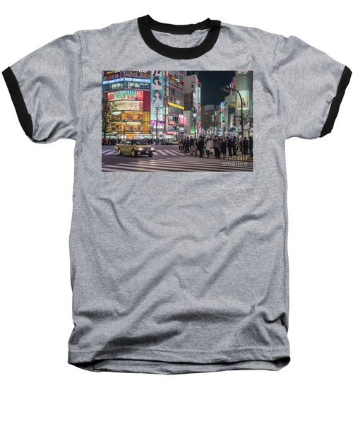 Baseball T-Shirt featuring the photograph Shibuya Crossing, Tokyo Japan by Perry Rodriguez