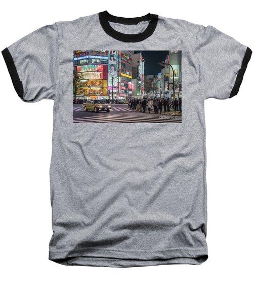Shibuya Crossing, Tokyo Japan Baseball T-Shirt