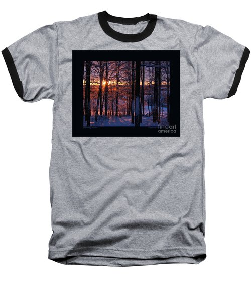 Shimmery Sunrise Baseball T-Shirt by Patricia Overmoyer