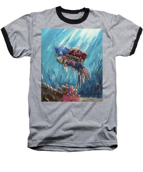 Shine Trough The Ocean Baseball T-Shirt