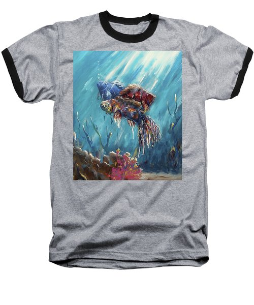 Shine Trough The Ocean Baseball T-Shirt