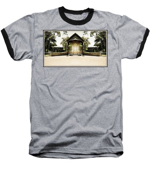 Baseball T-Shirt featuring the photograph Shining Through by Roseann Errigo