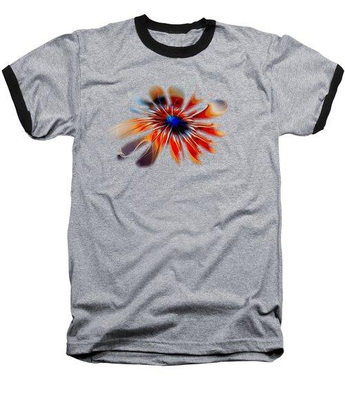 Shining Red Flower Baseball T-Shirt