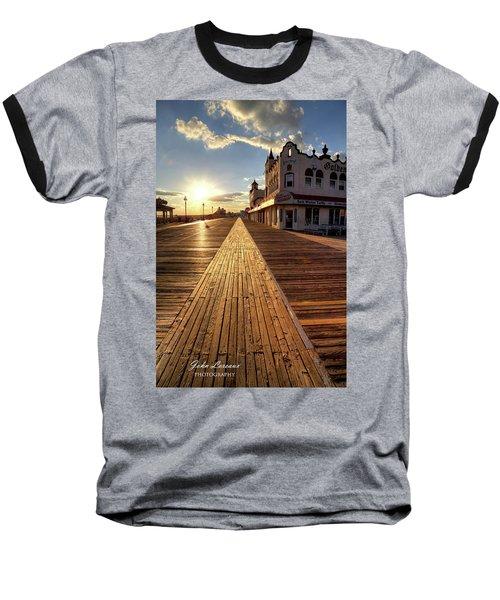Shining Walkway Baseball T-Shirt by John Loreaux