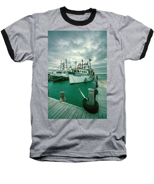 Shinnecock Fishing Vessels Baseball T-Shirt