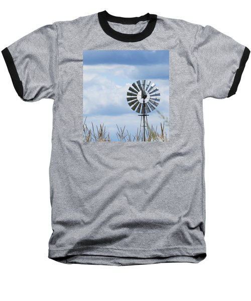 Baseball T-Shirt featuring the photograph Shiny Windmill by Jeanette Oberholtzer
