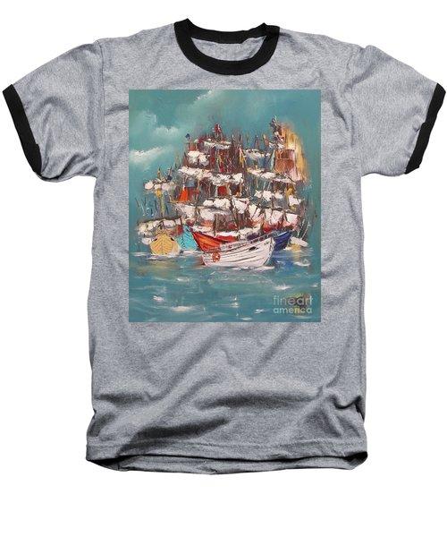 Ship Harbor Baseball T-Shirt