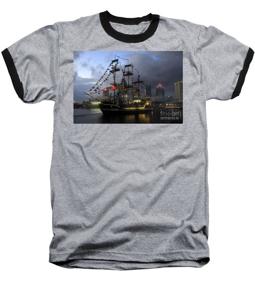 Ship In The Bay Baseball T-Shirt