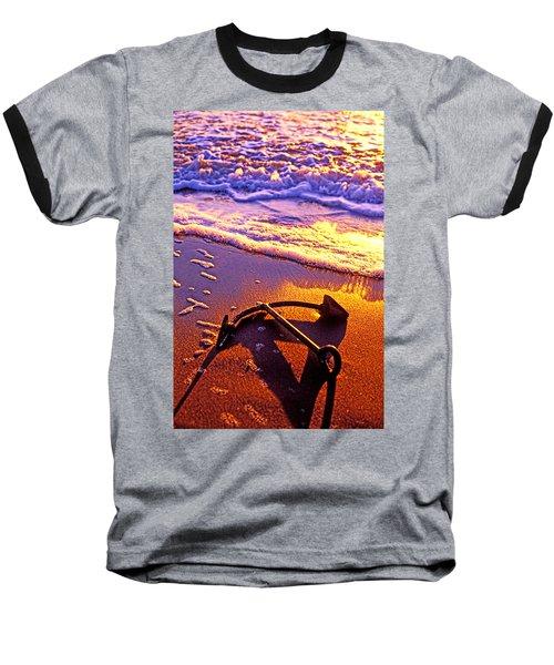 Ships Anchor On Beach Baseball T-Shirt