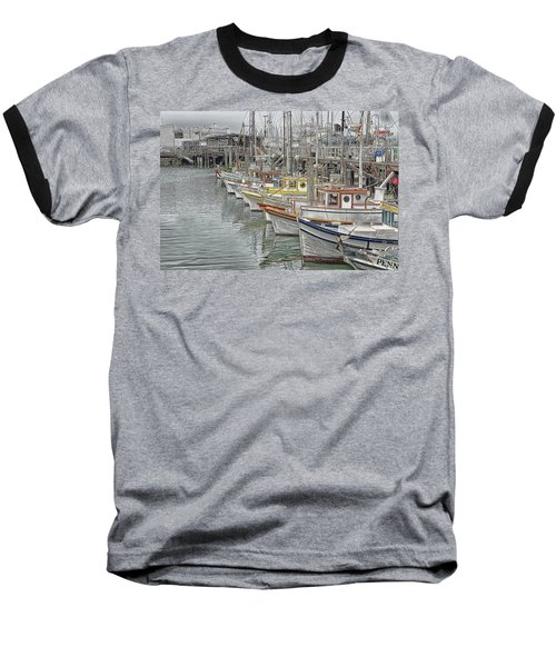 Ships In The Harbor Baseball T-Shirt